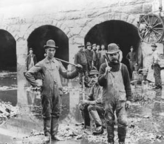 The immigrants? work of digging the canals along the Merrimack River to power Lowell?s mills was arduous and sometimes dangerous.