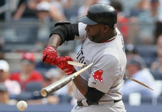 David Ortiz's shattered bat went nearly as far as the ball did on his grounder back to the pitcher that ended the Red Sox' fifth.