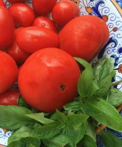Fresh tomatoes and basil are key ingredients in one of many versions of tomato pie, whose history is not strictly Southern.