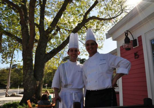 Boris Villatte (in an apron) and Philippe Rispoli make classic pastries and French influenced food at their boulangerie bistro.