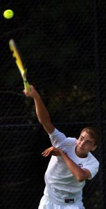 Michael Fedorouk, a promising 16-year-old tennis player who attends the Dexter School in Brookline, reached the finals of the New England Junior Clay Court Championships.
