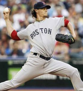 Clay Buchholz kept the free-swinging Blue Jays mostly under wraps last night in Toronto, lowering his ERA to 2.49.