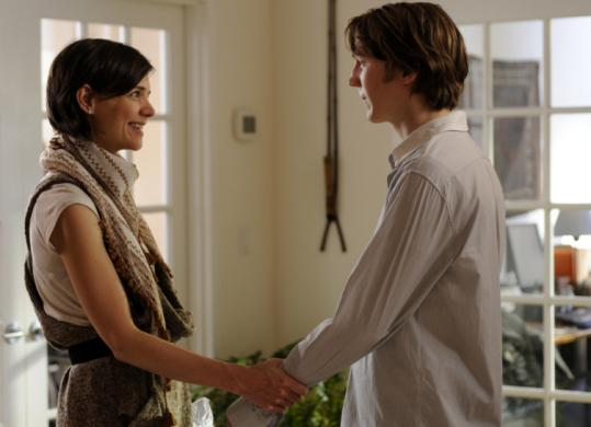 Paul Dano (with Katie Holmes) plays an out-of-step dreamer who leaves rural academia for a sales job in New York.