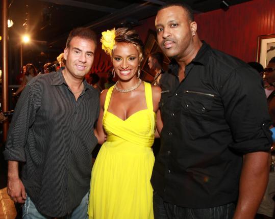 From left: Alberto Vasallo, Phaedra Butler, and Kenneth John Emmanuel at Ryles on Monday night.