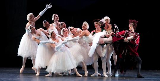 "The Les Ballets Trockadero de Monte Carlo performing ""Swan Lake'' at Jacob's Pillow Dance Festival."