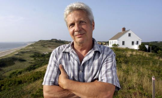 Playwright Kevin Rice, with the Hoppers' house in Truro behind him, wrote 'Hopper's Ghosts' to explore the dynamic of the two artists' marriage.