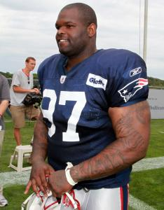 Patriots defensive lineman Ron Brace seems none the worse for wear after his first full practice of training camp.