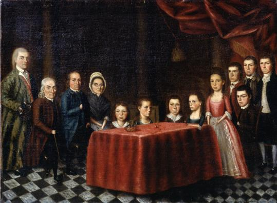 "Edward Savage painted ""The Savage Family'' — his family — when he was 18."