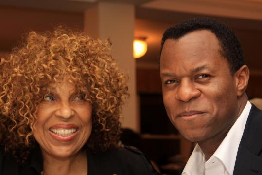 Roberta Flack and Geoffrey Fletcher on Martha's Vineyard for the Fletcher Fellows reception.