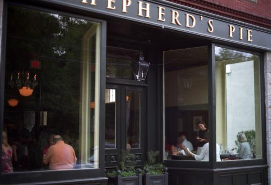 Shepherd's Pie is chef Brian Hill's new restaurant on Rockport, Maine's historic Shepherd Block, near the harbor.