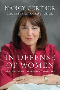 Nancy Gertner's memoirs are to be published in April.