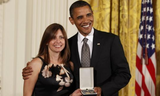 Susan Retik of Needham received a Citizens Medal from President Obama this month.