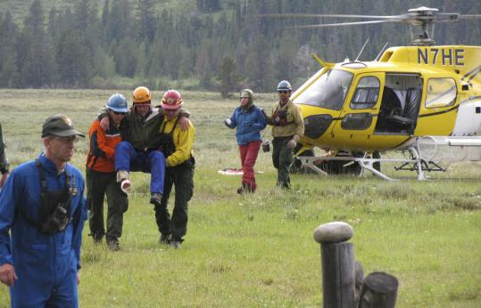Grand Teton rangers helped climbers hurt in a lightning storm, after they called for help with a cellphone. While some national park visitors put gadgets to good use, others get into trouble.