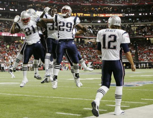 No matter how his offense does it, Tom Brady hopes for a lot of wild TD celebrations this season like this one Thursday night.