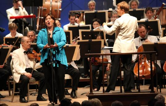 """Soprano Dawn Upshaw performs Osvaldo Golijov's """"Three Songs'' with conductor Ludovic Morlot and the BSO at Tanglewood on Friday."""