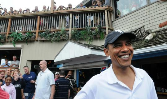 President Obama and his wife, Michelle, lunched at Nancy's Restaurant.