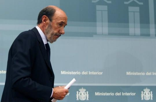 "Spain's interior minister, Alfredo Pérez Rubalcaba, called yesterday's shooting a ""terrorist attack.''"