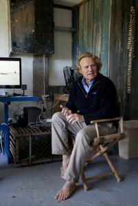"Bob Nixon was busy yesterday in his Martha's Vineyard studio working on his documentary, ""Mission Blue.''"