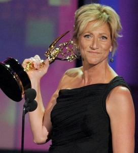 Edie Falco takes the award for lead actress in a comedy series for 'Nurse Jackie.'