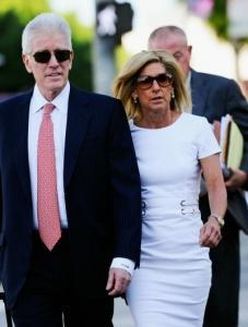 Kevork Djansezian/Getty Images Lawyer Dennis Wasser and Jamie McCourt arrive at court.