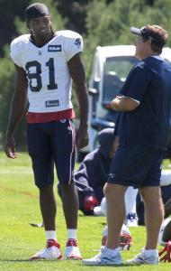 Back at practice, Randy Moss and Bill Belichick know the offense will have to perform much better than it did in the first half against the Rams.