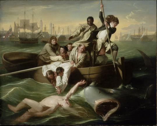John Singleton Copley's 'Watson and the Shark' is one of the works children can see at the Museum of Fine Arts.