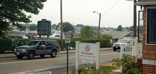 The Angeline Crocker Hinckley Hostel has views of Hyannis Harbor.