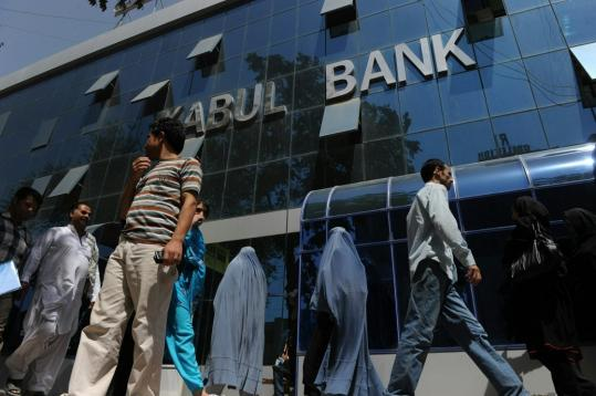 Lines were longer than usual the past two days as people withdrew money from Kabul Bank, Afghanistan's biggest, on fears of a financial collapse sparked by the ouster of bank executives.