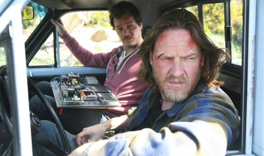 Donal Logue (foreground) plays a former cop and Michael Raymond-James is a former thief in the new FX detective series &#8220;Terriers.&#8217;&#8217;