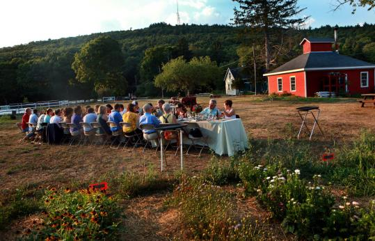 Brookwood Community Farm let its results speak for it at its on-premises fund-raising dinner in Canton last month.