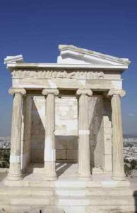 The marble temple of Athena Nike has been restored after 10 years of work in Athens.