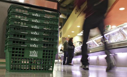 A similar view of baskets at a Whole Foods Market may replace a longtime Wellesley Plaza tenant, the Tian Fu restaurant.