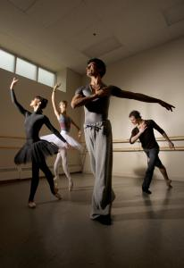 From left: Adiarys Almeida, Keenan Kampa, Lasha Khozashvili, and Joseph Gatti are among the dancers added to Boston Ballet's roster this season.