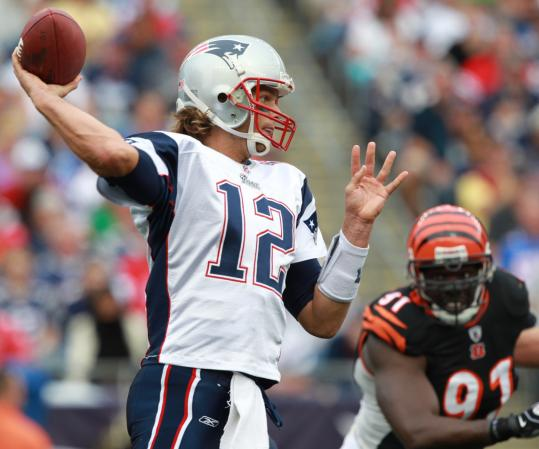 The pass protection was sound for Tom Brady, who was 25 of 35 for 258 yards and three TDs.