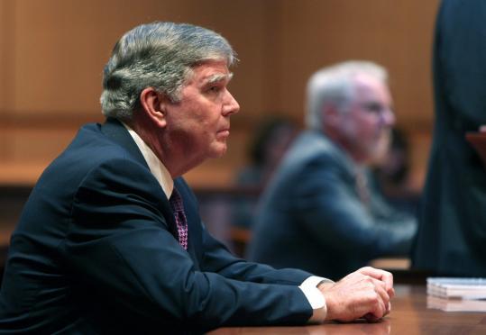 Prosecutor Paul F. Ware listened to testimony about state Representative Thomas M. Petrolati.