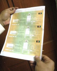 The cards look like genuine voting cards, though they may not withstand scrutiny.