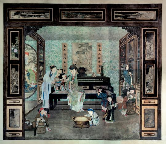"A mural that belonged to the Qianlong Emperor. Artworks from his ""garden'' are being shown in public for the first time."