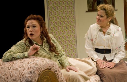 "Jennie Israel (left) and Debra Wise costar in the New Rep's production of David Mamet's play ""Boston Marriage.''"