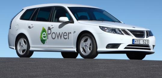 SAAB said it will debut its first all-electric car at the Paris auto show.
