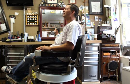 "For Pat Owens, owner of Bunker Hill Barbershop, art imitated life when he appeared in ""The Town'' as a barber."