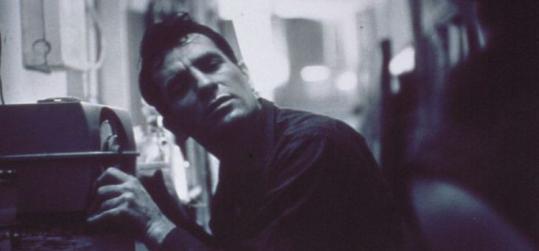 Jack Kerouac listening to himself on the radio in 1959.