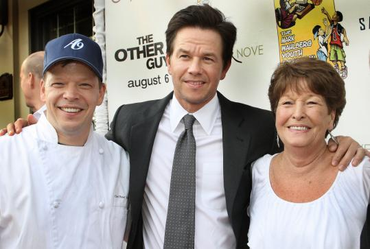 Alma Nove chef and owner Paul Wahlberg joins famous brother Mark and their mother, the Hingham restaurant's namesake, at a recent charity event there.