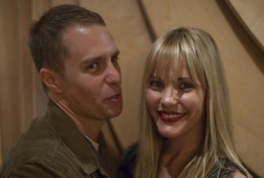 Sam Rockwell and Leslie Bibb turned out for the Boston Film Festival.