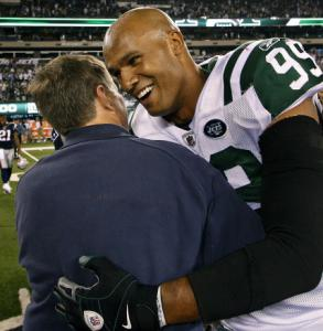 Something Bill Belichick said after Sunday's game elicited a smile from Jets linebacker Jason Taylor.