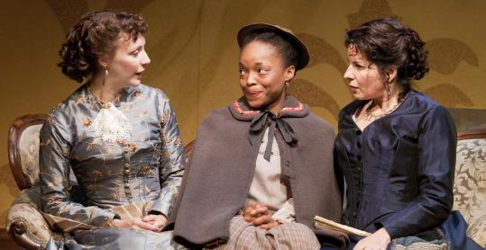 From left: Marianna Bassham, Lindsey McWhorter, and Anne Gottlieb in SpeakEasy Stage Company's production.