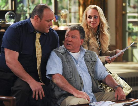 "From left: Will Sasso, William Shatner, and Nicole Sullivan in the CBS sitcom ""$#*! My Dad Says.''"