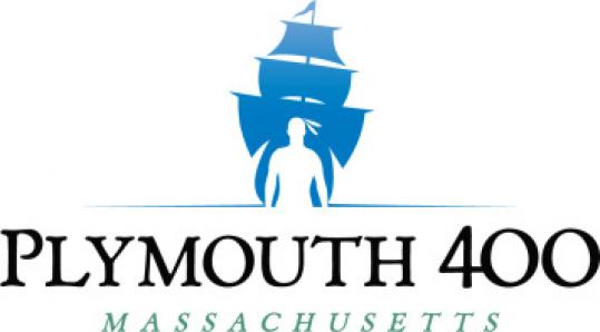 Plymouth's 2020 logo includes images of a Native American and the Mayflower.