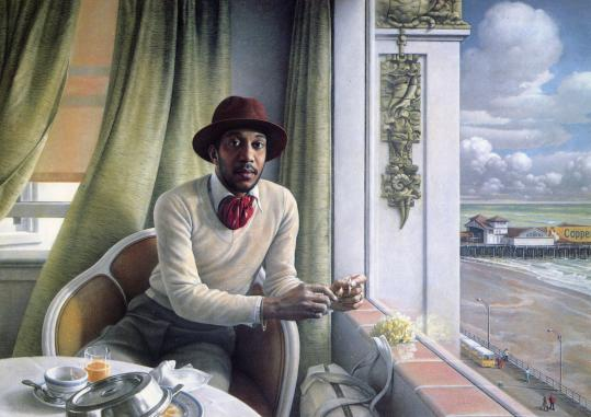 Bradley Phillips's pastel portrait of Alexander Hickson in his hotel room in 1978.