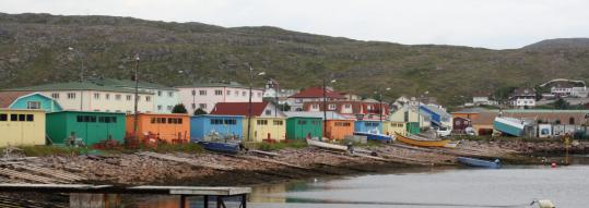 The harbor at Saint-Pierre reflects the French island's reliance on fishing.