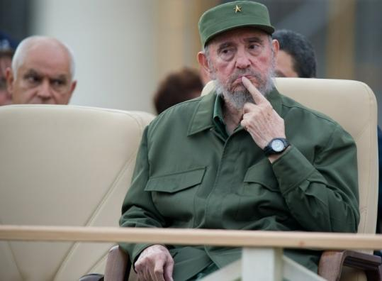 The former Cuban president offered no opinions on contemporary Cuba during yesterday's address.